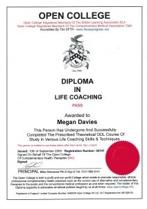 Diploma in Life Coaching. I successfully use CBT.